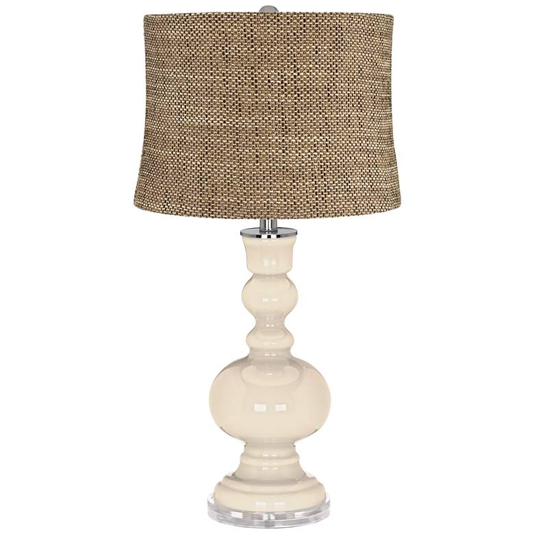 Steamed Milk Charcoal Brown Shade Apothecary Table Lamp