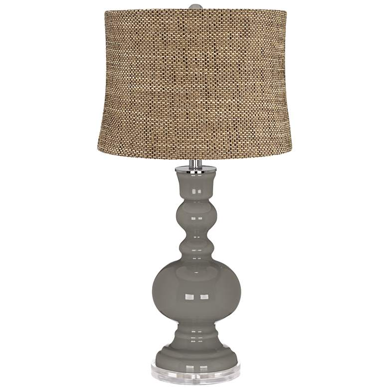 Gauntlet Gray Charcoal Brown Shade Apothecary Table Lamp