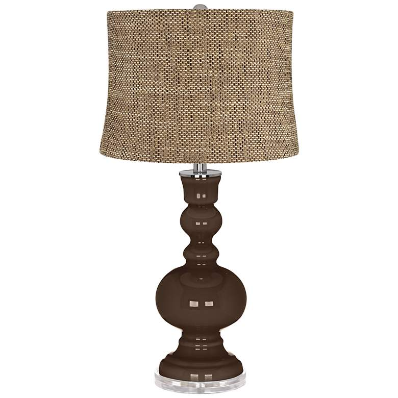 Carafe Charcoal Brown Shade Apothecary Table Lamp