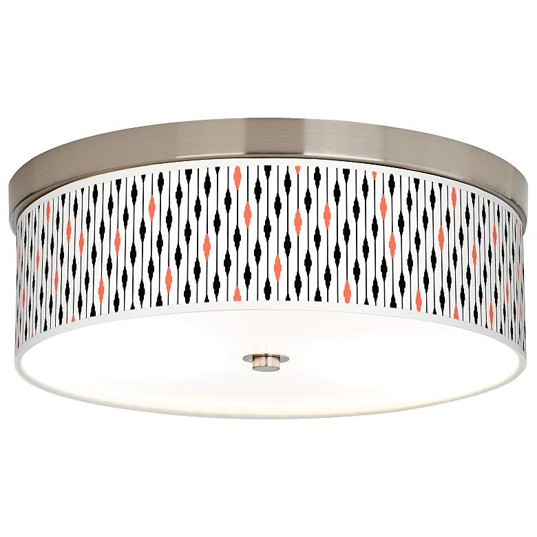 Retro Lines Giclee Energy Efficient Ceiling Light