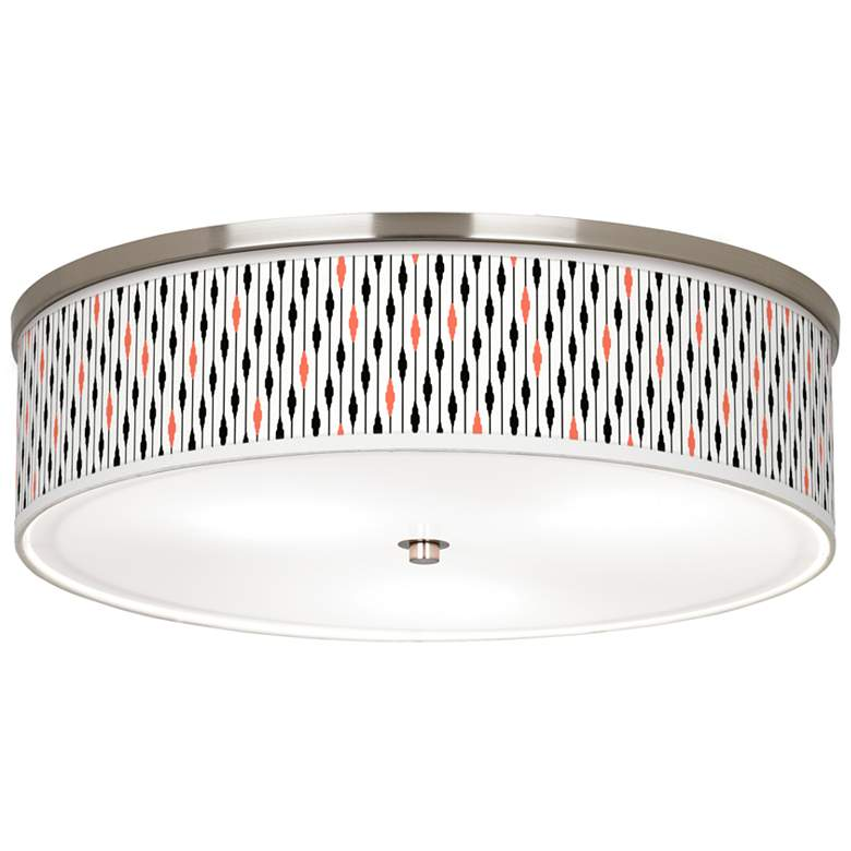 """Retro Lines Giclee Nickel 20 1/4"""" Wide Ceiling Light"""