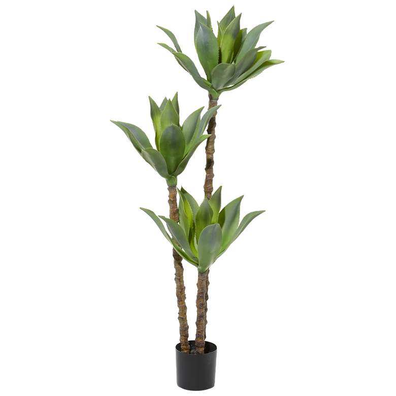 """Green Artifical Foliage Tree 59"""" High Faux Plant"""