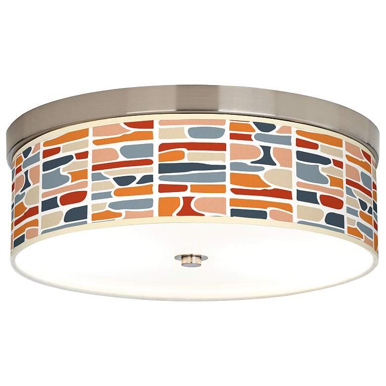 Retro Cobblestones Giclee Energy Efficient Ceiling Light