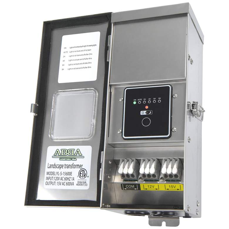 Stainless Steel 600-Watt Landscape Transformer