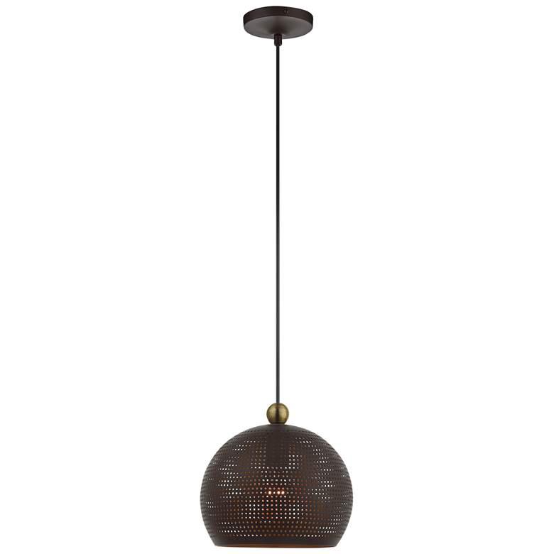 "Dublin 10"" Wide Bronze Metal Globe Mini Pendant Light"