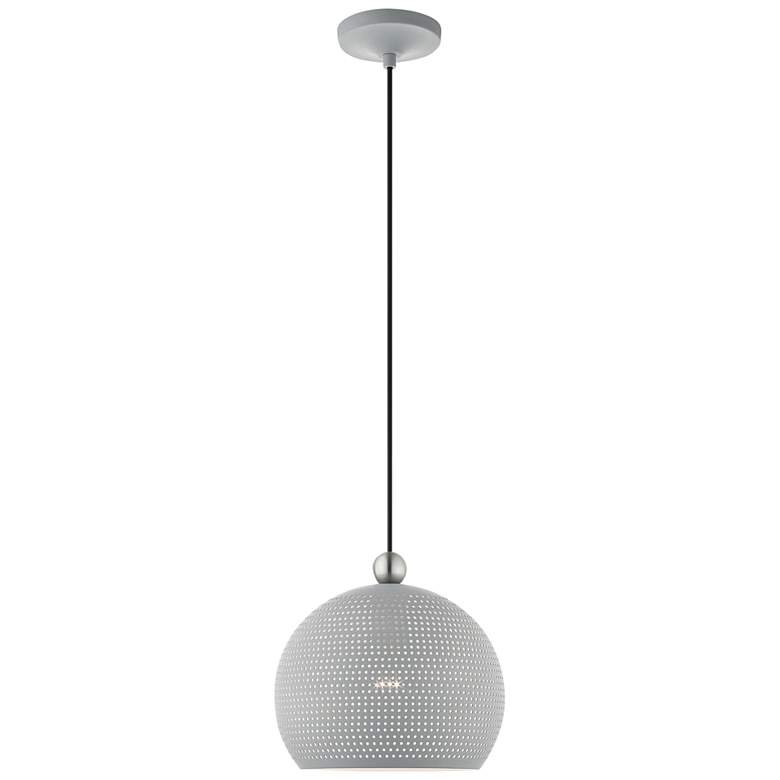 "Dublin 10"" Wide Nordic Gray Metal Globe Mini Pendant Light"