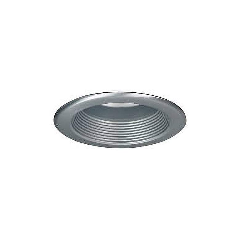 """Nora 5"""" Natural Metal Baffle Splay Recessed Trim with Flange"""