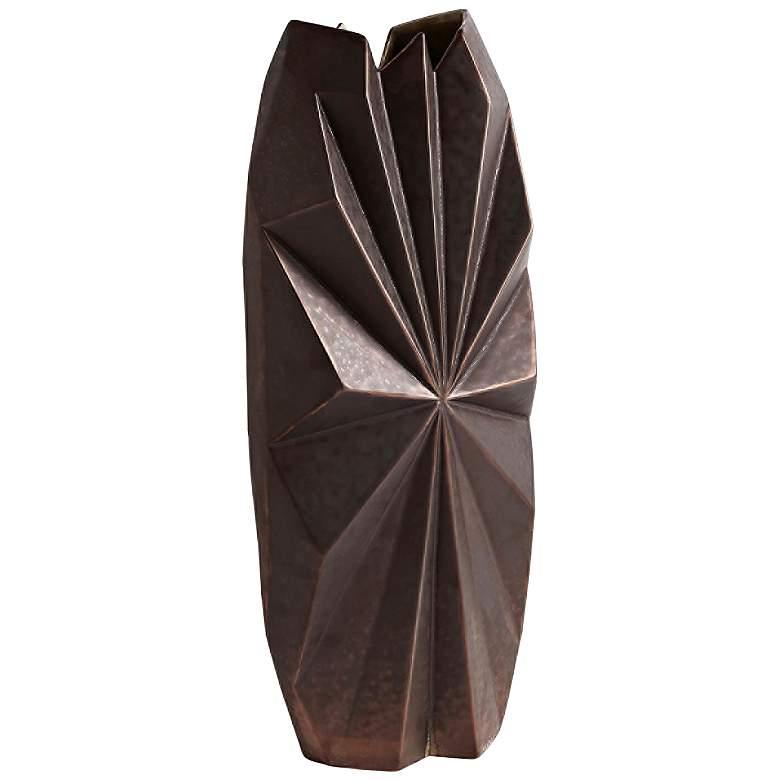 """Star Facet 23 3/4"""" High Bronze Ceramic Decorative Vase"""