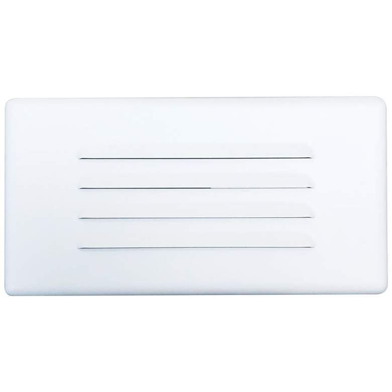 """Nora 10 1/4"""" Wide White Louvered LED Step Light"""