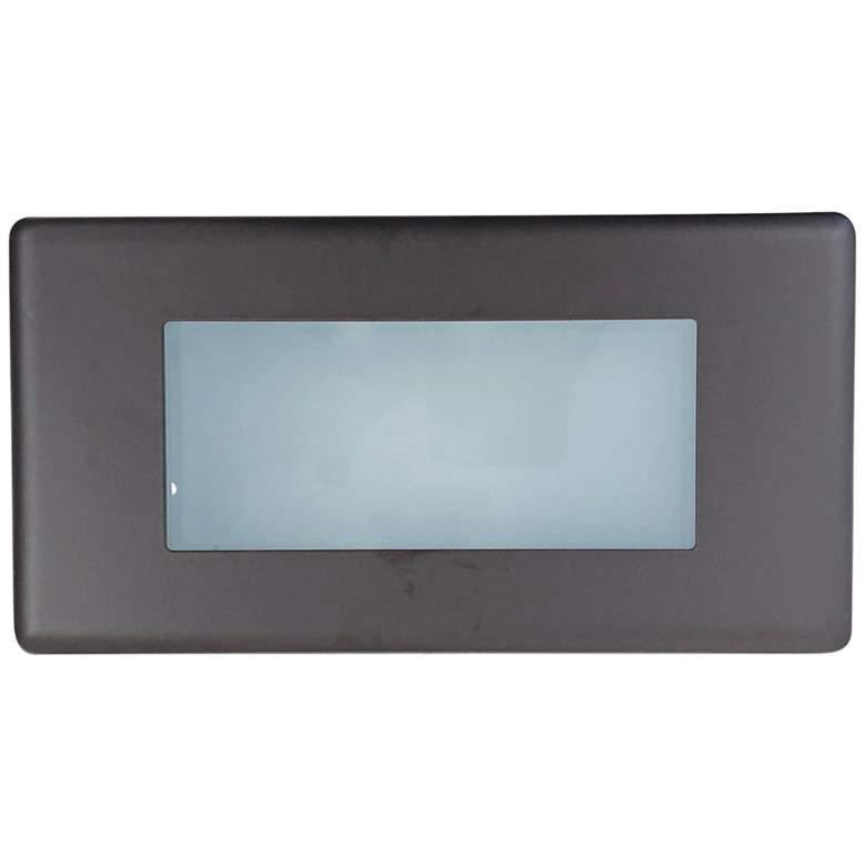 "Nora 10 1/4"" Wide Bronze Lensed LED Step Light"