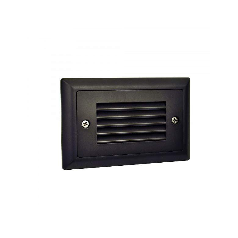 """Mia 4 3/4"""" Wide Bronze Louvered Dimmable LED"""