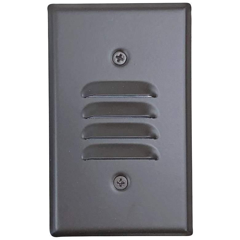 "Nora 2 3/4"" Wide Bronze Louvered LED Mini Step Light"