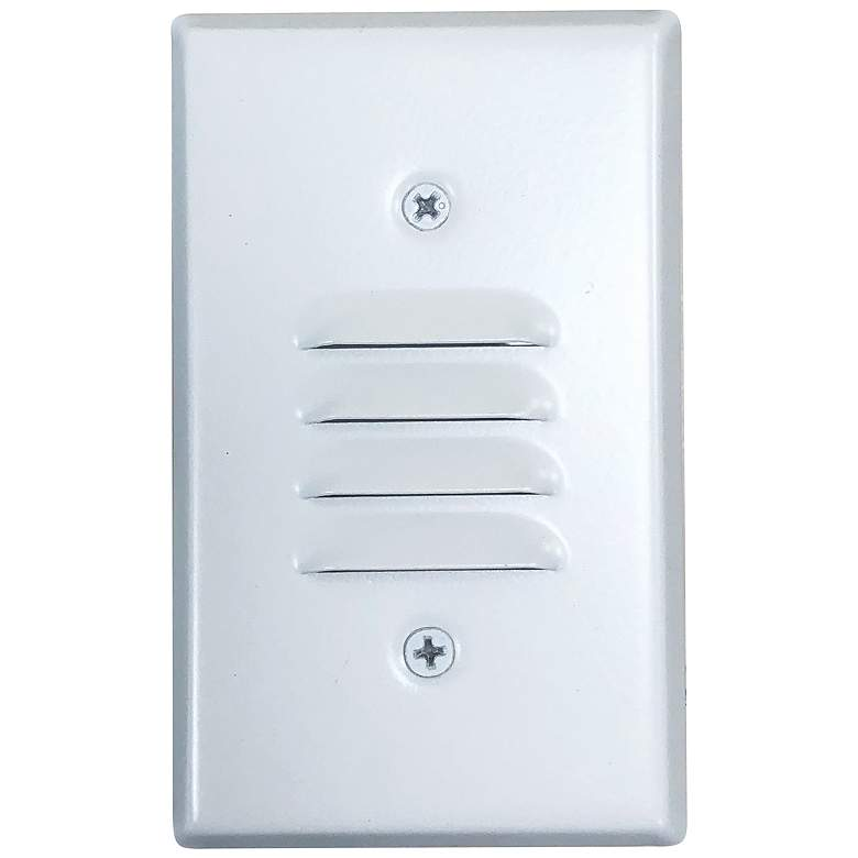 "Nora 2 3/4"" Wide White Louvered LED Mini Step Light"
