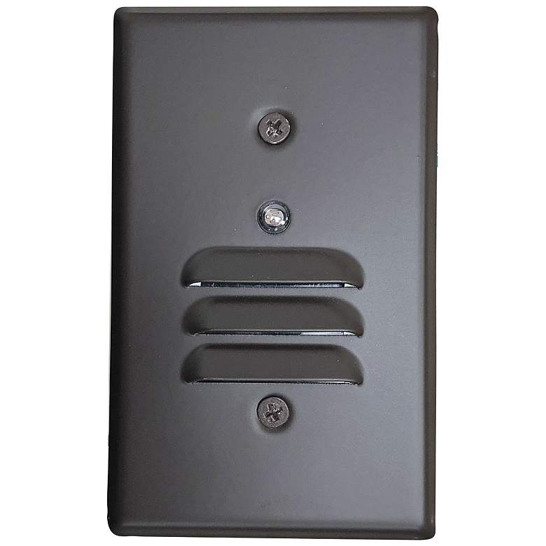 """Nora 2 3/4"""" Wide Bronze Louvered Dusk-to-Dawn LED Step Light"""