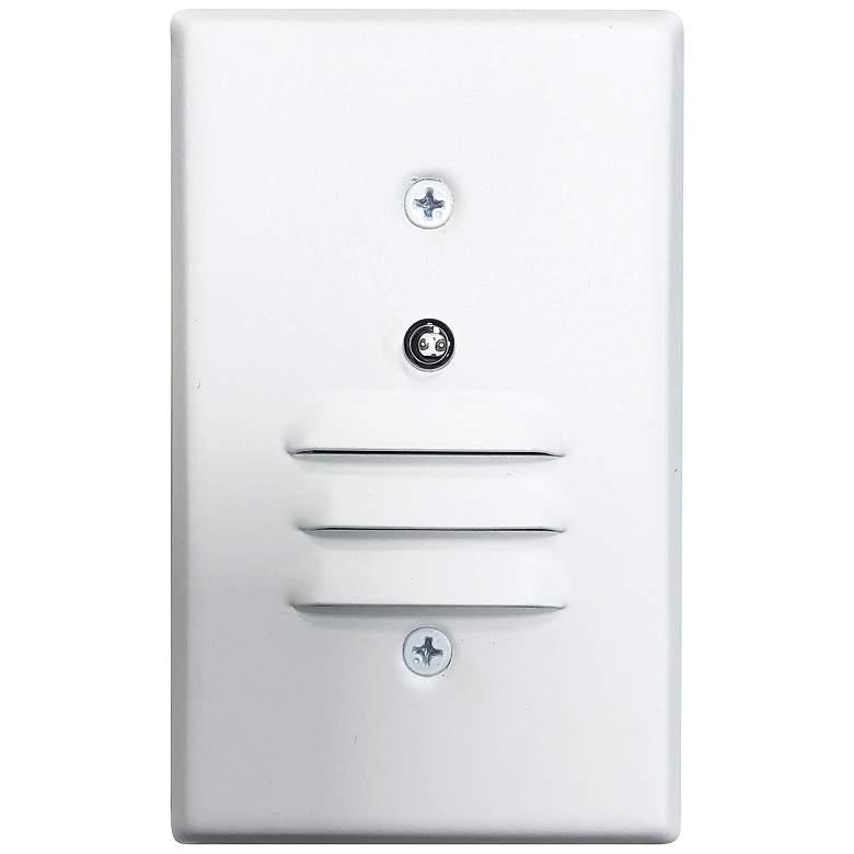 "Nora 2 3/4""W White Louvered Dusk-to-Dawn LED Mini Step Light"