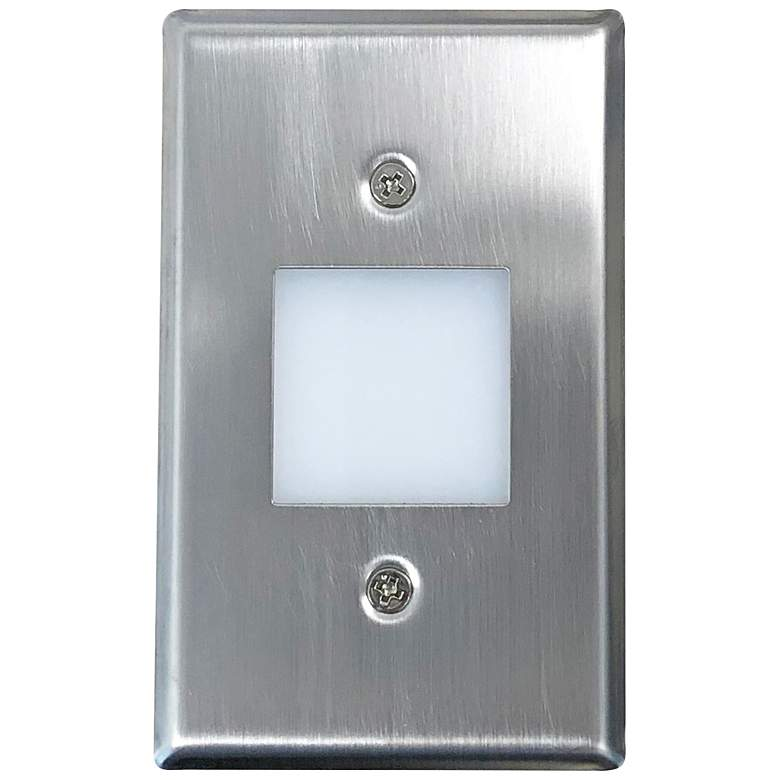 "Nora 2 3/4"" Wide Brushed Nickel Lensed LED Mini Step Light"