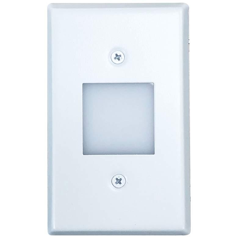 """Nora 2 3/4"""" Wide White Lensed LED Mini Step Light"""
