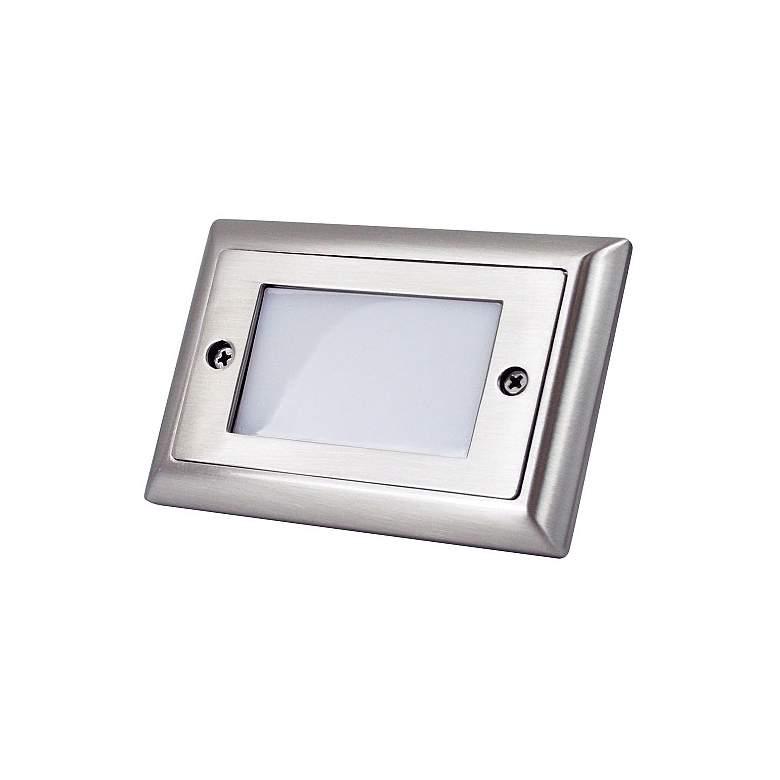 "Nora Mia 4 3/4""W Brushed Nickel Lensed LED Mini Step Light"
