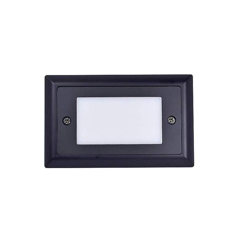 "Nora Mia 4 3/4"" Wide Bronze Lensed LED Mini Step Light"