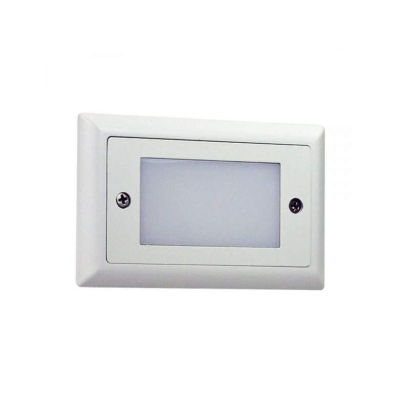 "Nora Mia 4 3/4"" Wide White Lensed LED Mini Step Light"