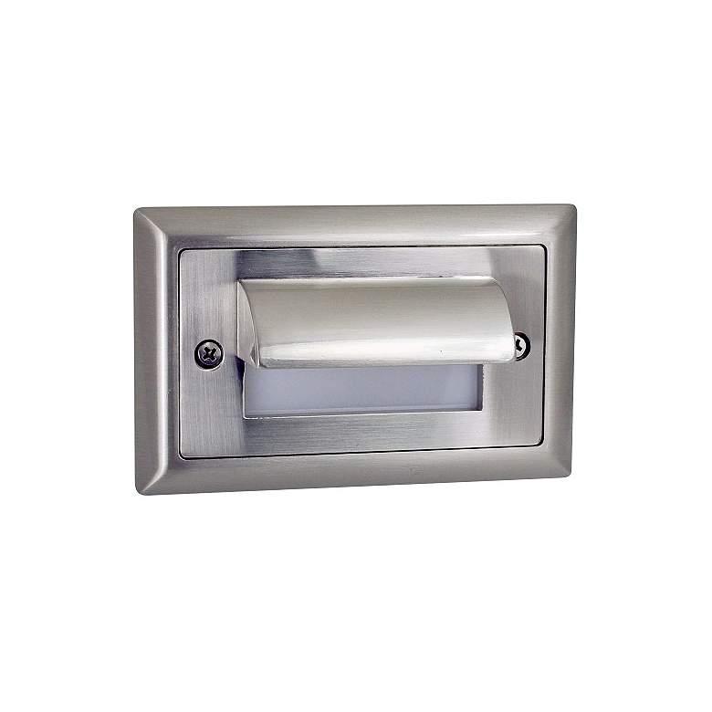 """Nora Mia 4 3/4""""W Brushed Nickel Shroud LED Mini Step Light"""