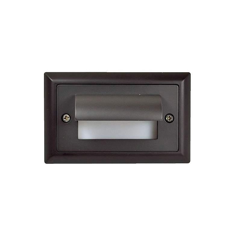 "Mia 4 3/4"" Wide Bronze Horizontal Shroud LED Mini Step Light"