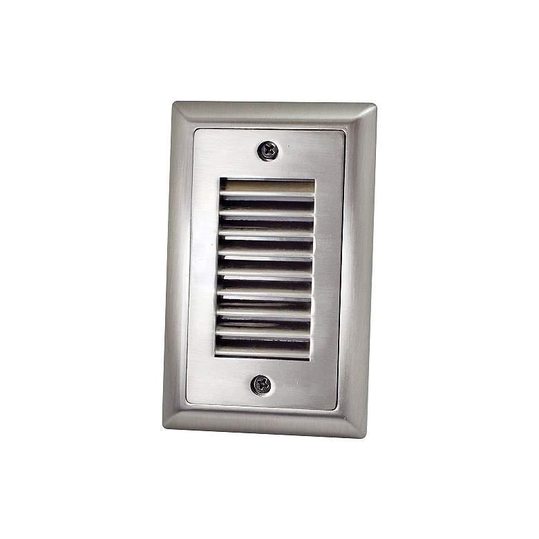 "Mia 3""W Brushed Nickel Vertical Louvered LED Mini"
