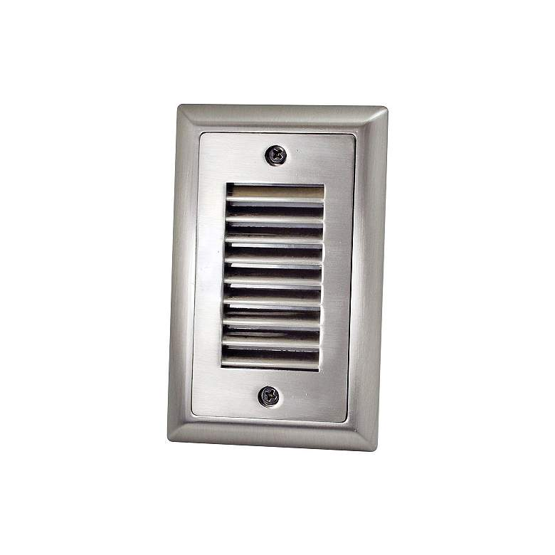 "Mia 3""W Brushed Nickel Vertical Louvered LED Mini Step Light"