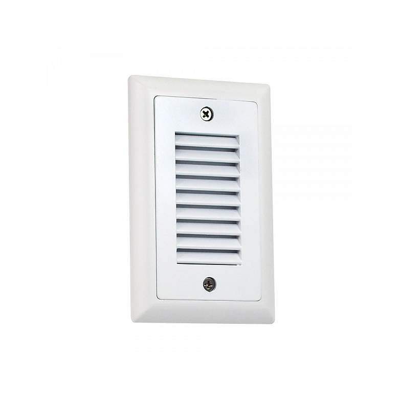 "Nora Mia 3"" Wide White Vertical Louvered LED Mini Step Light"