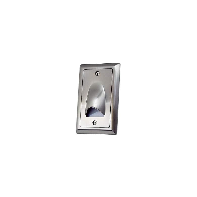 "Nora Mia 3"" Wide Nickel Vertical Shroud LED Mini Step Light"