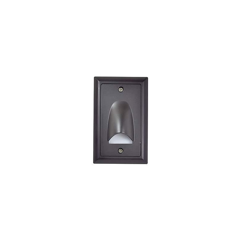 "Nora Mia 3"" Wide Bronze Vertical Shroud LED Mini Step Light"