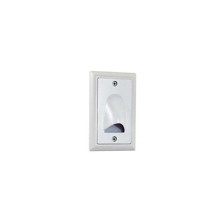 "Nora Mia 3"" Wide White Vertical Shroud LED Mini Step Light"