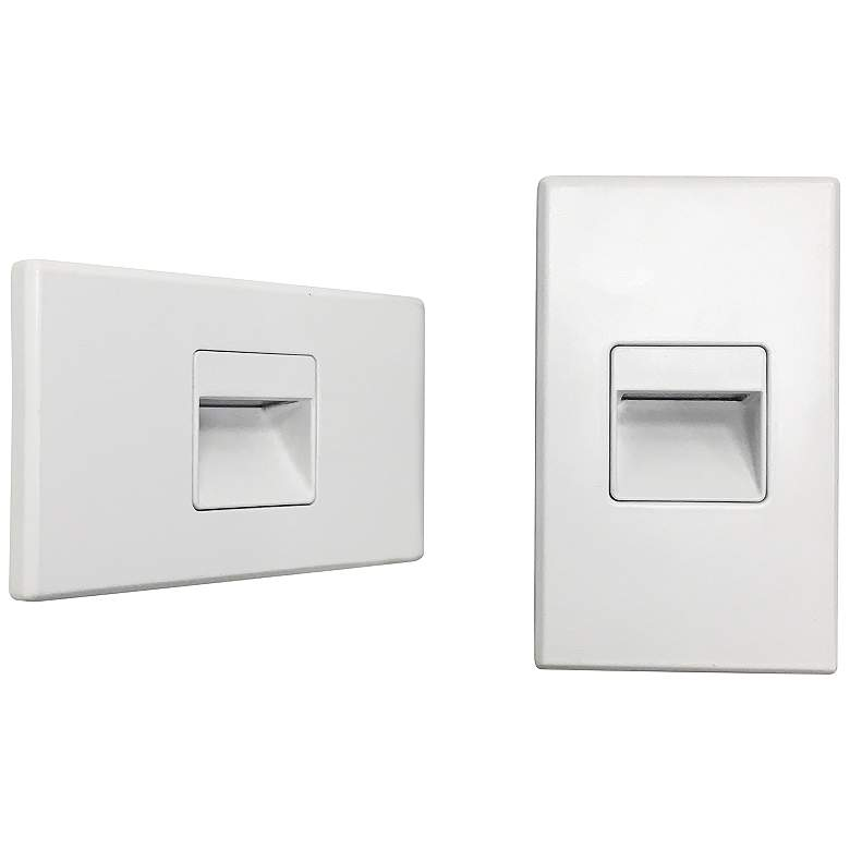 "Nora Ari 4 1/2"" Wide White Interchangeable LED Step Light"