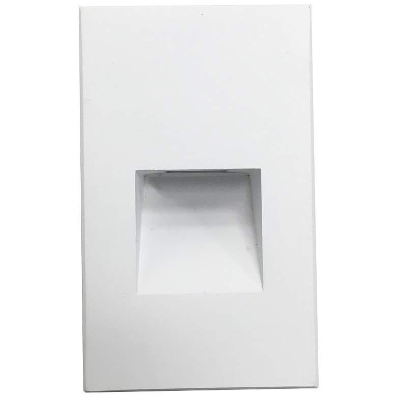 "Nora Ari 3"" Wide White Vertical LED Step Light"