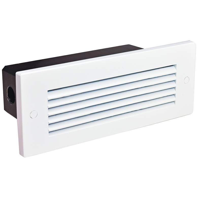 """Nora 8 3/4""""W White Louvered Dimmable LED Step/Brick Light"""