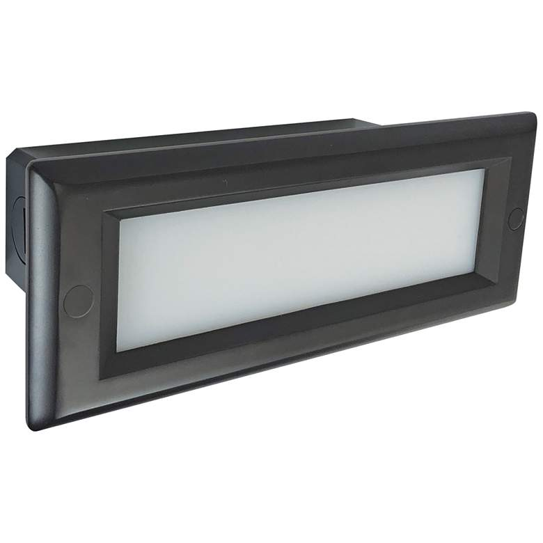 """Nora 8 3/4"""" Wide Bronze Lensed Dimmable LED Step/Brick Light"""