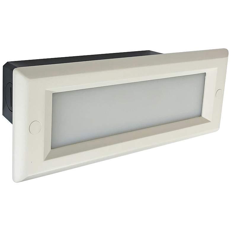 "Nora 8 3/4"" Wide White Lensed Dimmable LED Step/Brick Light"