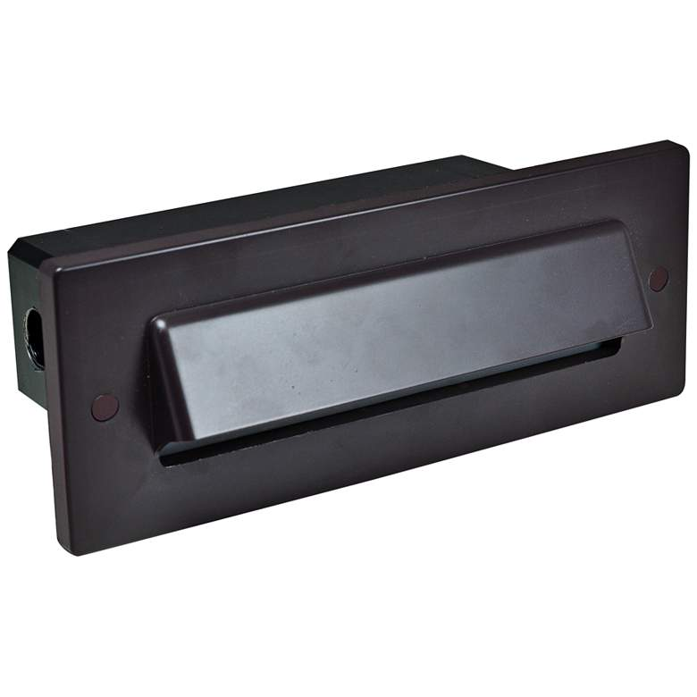 """Nora 8 3/4"""" Wide Bronze Shroud Dimmable LED Step/Brick Light"""