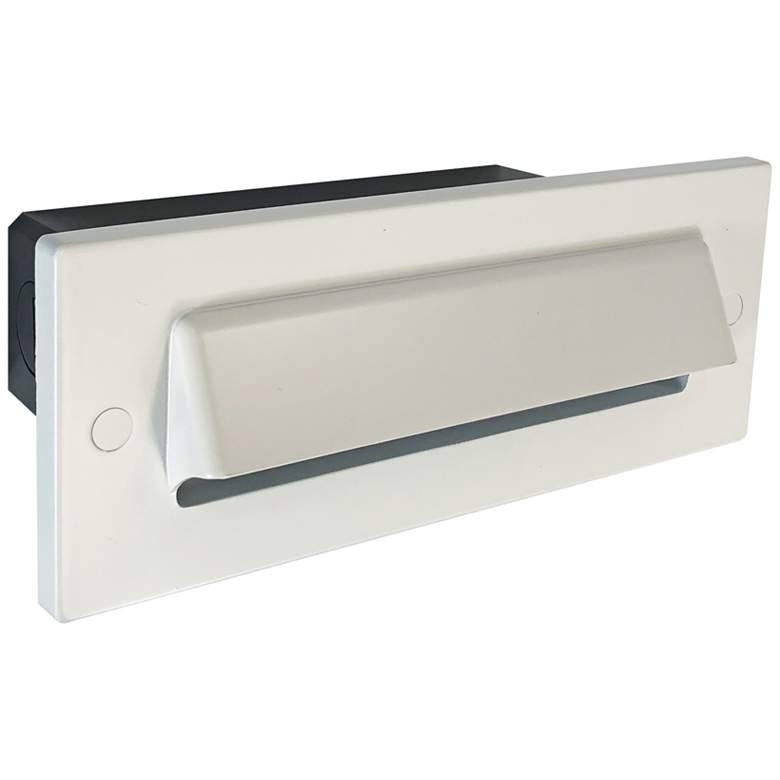 """Nora 8 3/4"""" Wide White Shroud Dimmable LED Step/Brick Light"""