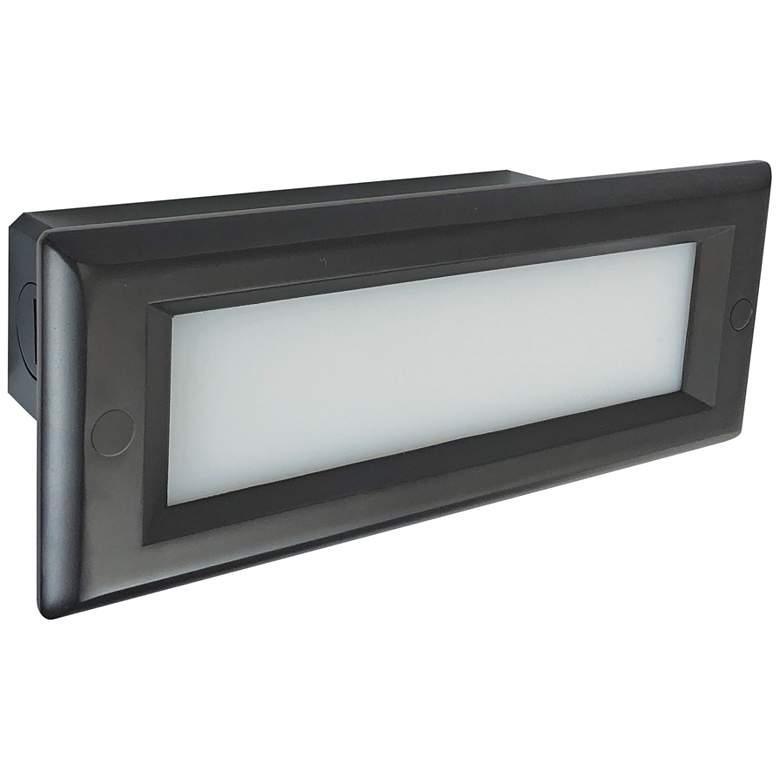 "Nora 8 3/4""W Bronze Lensed Non-Dimmable LED Step/Brick Light"