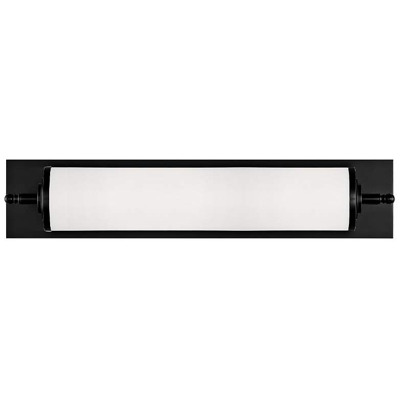 "Crystorama Foster 24"" Wide Matte Black LED Wall Light"