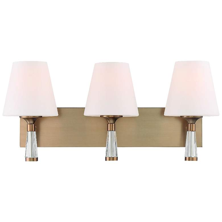 "Crystorama Ramsey 23 1/4""W Vibrant Gold 3-Light Bath Light"