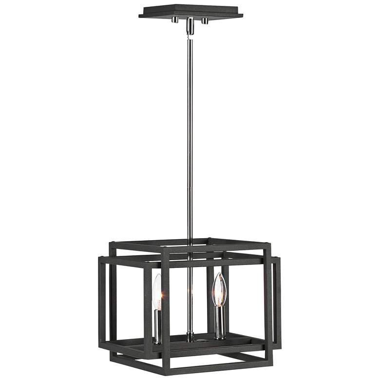 Uttermost Quadrangle Black 2-Light Mini Pendant Light