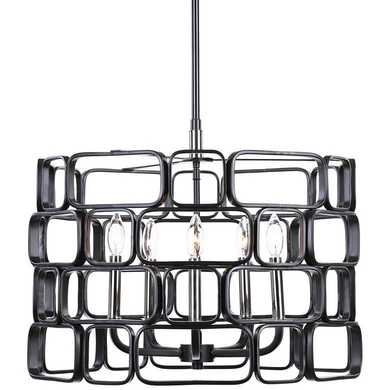 Uttermost Becton Matte Black 5-Light Pendant Light
