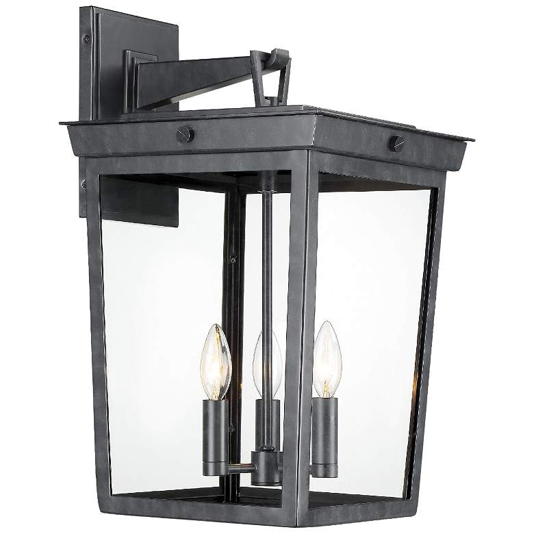 "Crystorama Belmont 20"" High Graphite 3-Light Outdoor Wall"