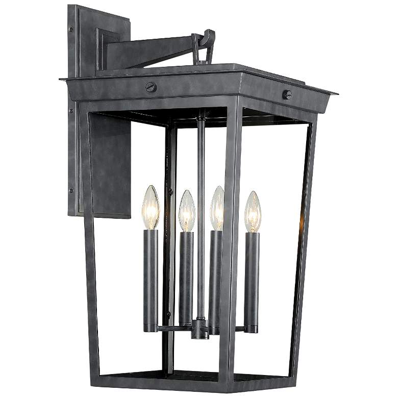 "Crystorama Belmont 26"" High Graphite 4-Light Outdoor Wall"