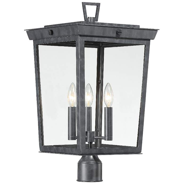Crystorama Belmont Graphite 3-Light Outdoor Post Light
