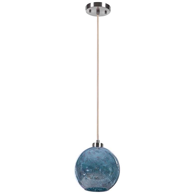 Uttermost Gemblue Glass Mini Pendant Light