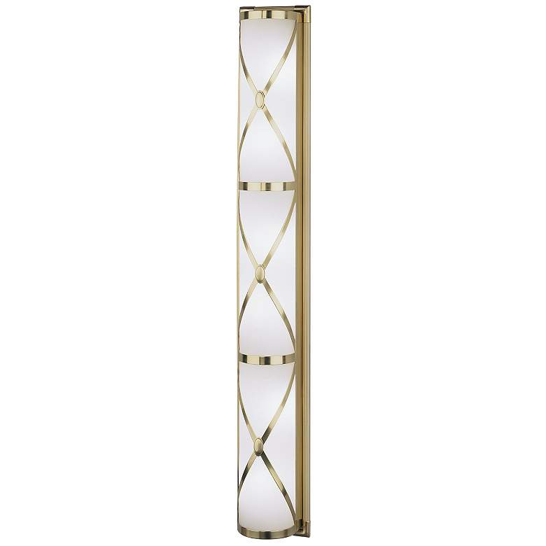 "Robert Abbey Drexel 36"" Wide Antique Brass ADA Wall Sconce"