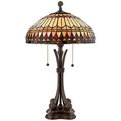 26 in 30 in tiffany table lamps lamps plus western place tiffany style table lamp aloadofball Images